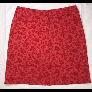Xhilaration Stretch Floral A-Line Skirt Medium